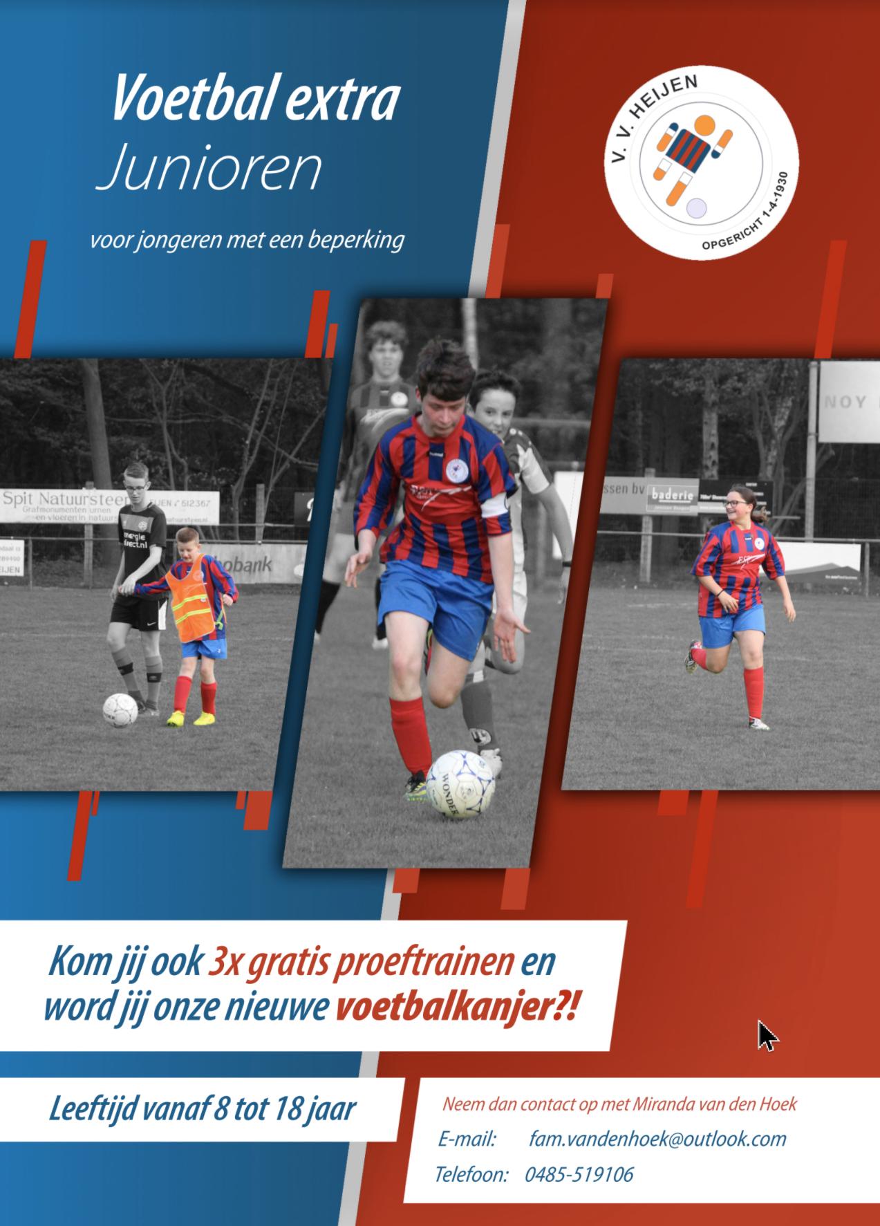 VV Heijen Voetbal Extra zoekt nieuwe voetbalkanjers